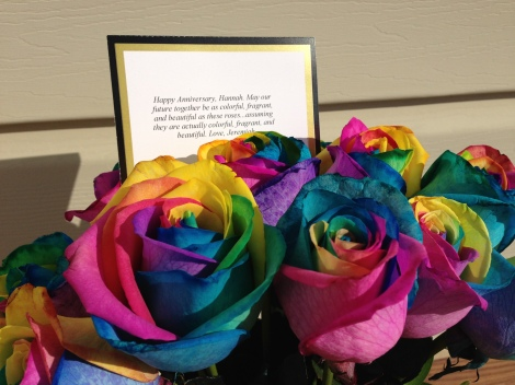 Tie_dyed flowers and a heartfelt note from the other side of the globe.